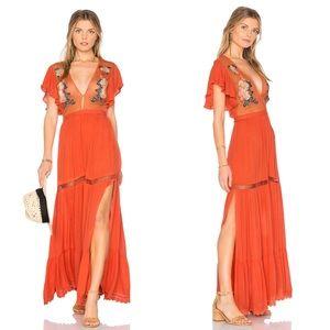 NWT Cleobella Amery Maxi Dress Coral